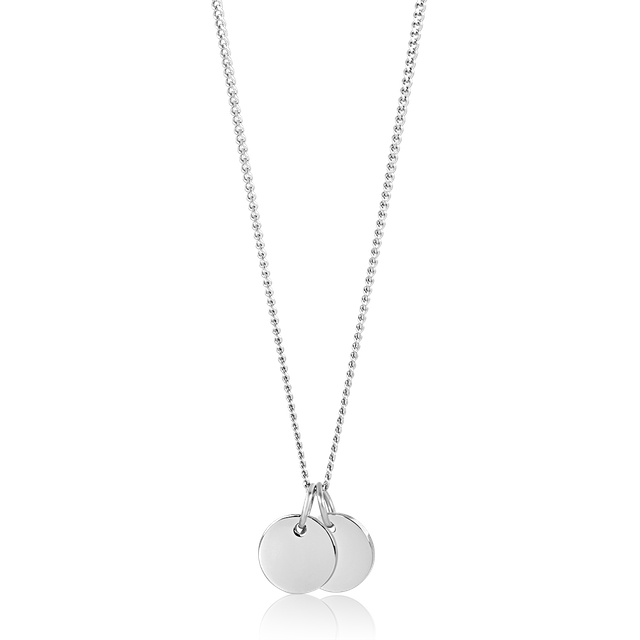Tiny Duo Round Necklace (Silver)
