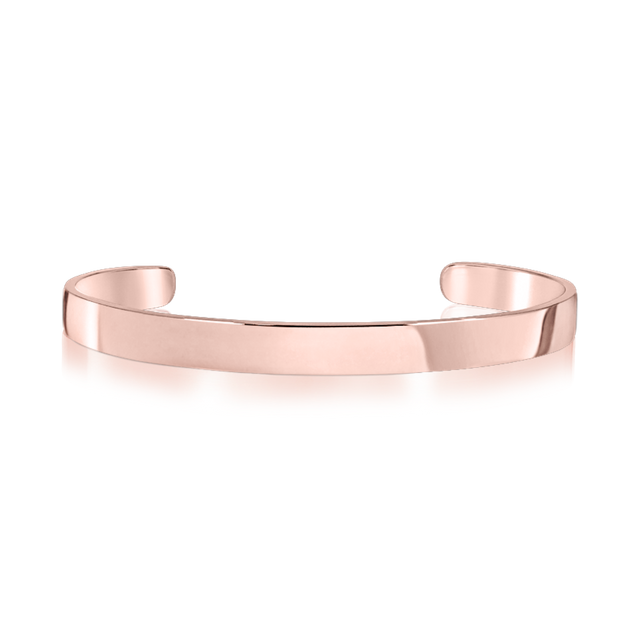 Steel Classic Bangle (Rose Gold)