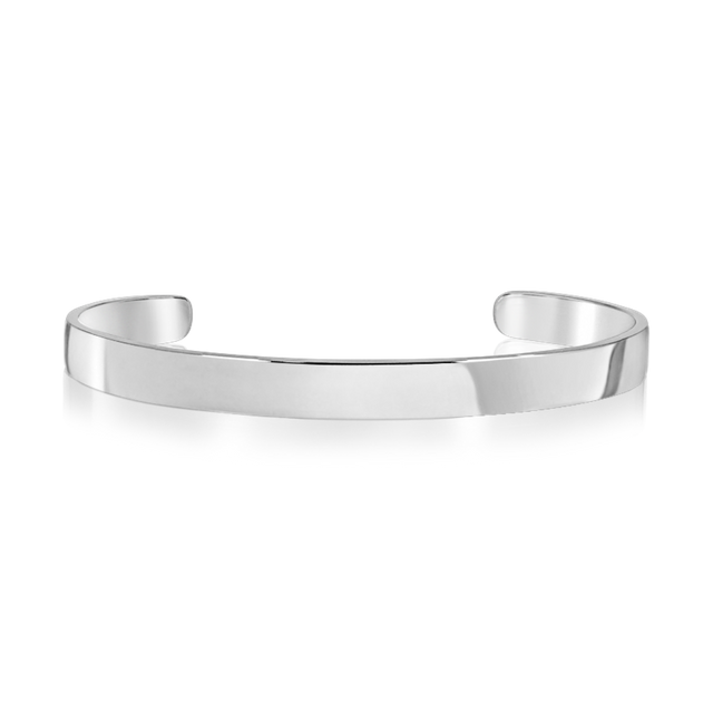 Steel Classic Bangle (Silver)