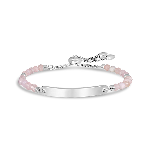 Cassandra Rose Quartz Bar Bracelet