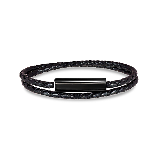 Blake Leather Bracelet (Black)