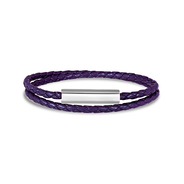 Blake Leather Bracelet (Purple)