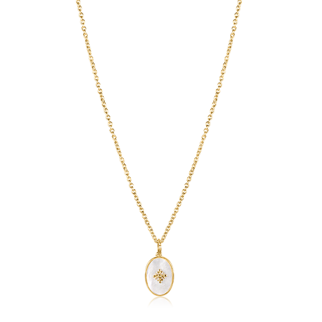 Diana Oval Vintage Necklace (Gold)